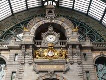 Σταθμός τρένου Centraal Antwerpen Στοκ φωτογραφία με δικαίωμα ελεύθερης χρήσης