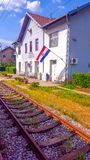 Σταθμός τρένου Popovaca στοκ εικόνες