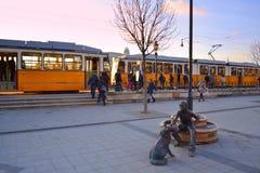 Σταθμός τραμ της Βουδαπέστης στοκ φωτογραφίες με δικαίωμα ελεύθερης χρήσης