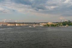 Σταθμός υδροηλεκτρικής ενέργειας Dnieper Στοκ φωτογραφία με δικαίωμα ελεύθερης χρήσης