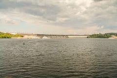 Σταθμός υδροηλεκτρικής ενέργειας Dnieper Στοκ Εικόνα