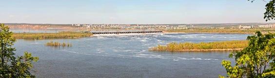 Σταθμός υδροηλεκτρικής ενέργειας Zhigulevskaya Στοκ φωτογραφία με δικαίωμα ελεύθερης χρήσης