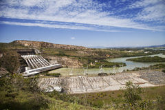 σταθμός υδροηλεκτρικής παραγωγής ηλεκτρικού ρεύματος στοκ εικόνα