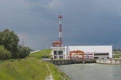 σταθμός υδροηλεκτρικής παραγωγής ηλεκτρικού ρεύματος Στοκ εικόνα με δικαίωμα ελεύθερης χρήσης