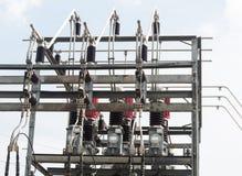 Σταθμός υψηλής δύναμης για την παραγωγή της ηλεκτρικής ενέργειας Στοκ φωτογραφίες με δικαίωμα ελεύθερης χρήσης