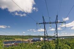 σταθμός υδροηλεκτρικής παραγωγής ηλεκτρικού ρεύματος Στοκ φωτογραφία με δικαίωμα ελεύθερης χρήσης