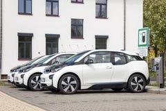 Σταθμός χρέωσης για τα ηλεκτρικά οχήματα Στοκ εικόνες με δικαίωμα ελεύθερης χρήσης