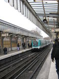 Σταθμός barbès-Rouchecouart Παρίσι, Γαλλία μετρό Στοκ Εικόνες