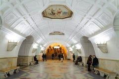 Σταθμός Belorusskaya στις 14 Νοεμβρίου 2016 στο μετρό της Μόσχας Στοκ Εικόνα