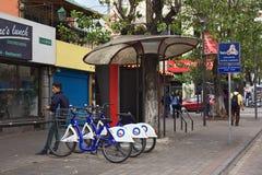 Σταθμός BiciQuito στο Κουίτο, Ισημερινός Στοκ Εικόνες