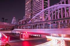 Σταθμός Cong Nonsi Skywalk, Μπανγκόκ, Ταϊλάνδη Στοκ Φωτογραφίες