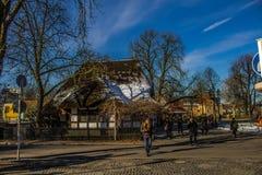 Σταθμός Dahlem Dorf του u -u-bahn του Βερολίνου Στοκ φωτογραφία με δικαίωμα ελεύθερης χρήσης