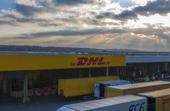Σταθμός DHL στο Μιλάνο στοκ φωτογραφία με δικαίωμα ελεύθερης χρήσης