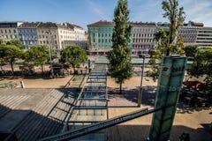Σταθμός Franz-Joseph στη Βιέννη, Αυστρία Στοκ εικόνα με δικαίωμα ελεύθερης χρήσης