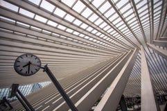 Σταθμός Guillemins, Λιέγη, Βέλγιο Στοκ Φωτογραφία