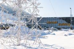 Σταθμός Hauser Kaibling σκι - ένα από τα τοπ χιονοδρομικά κέντρα της Αυστρίας: 44 ανελκυστήρες, 123 χιλιόμετρα των τρεξιμάτων σκι στοκ φωτογραφίες με δικαίωμα ελεύθερης χρήσης