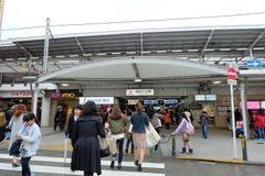 Σταθμός Jr Jiyugaoka, επίσκεψη εραστών επιδορπίων shoud, κοντά στο Τόκιο Στοκ Φωτογραφία