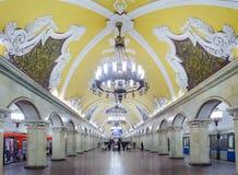 Σταθμός Komsomolskaya στις 14 Νοεμβρίου 2016 στο μετρό της Μόσχας Στοκ Φωτογραφίες