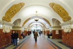 Σταθμός Krasnopresnenskaya στις 14 Νοεμβρίου 2016 στο μετρό της Μόσχας Στοκ φωτογραφίες με δικαίωμα ελεύθερης χρήσης
