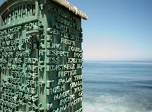 Σταθμός Lifeguard κοντά στο Ειρηνικό Ωκεανό Στοκ Εικόνα