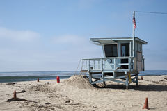 Σταθμός Lifeguard στην παραλία Καλιφόρνια της Βενετίας Στοκ Εικόνες
