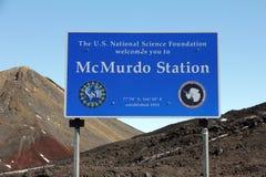 Σταθμός McMurdo, νησί του Ross, Ανταρκτική Στοκ Φωτογραφία