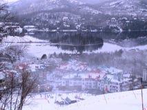 Σταθμός Mont Tremblant Κεμπέκ σκι Στοκ φωτογραφία με δικαίωμα ελεύθερης χρήσης