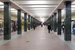 Σταθμός Shchyolkovskaya στις 8 Νοεμβρίου 2016 στο μετρό της Μόσχας Στοκ Φωτογραφία