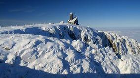 Σταθμός Siezne Kotly Ralay στα γιγαντιαία βουνά/το ΝΕ KotÅ 'Υ ÅšnieÅ ¼ σε Karkonosze Στοκ Φωτογραφίες