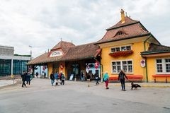 Σταθμός Vitznau στη λίμνη Λουκέρνη στην Ελβετία στοκ φωτογραφία με δικαίωμα ελεύθερης χρήσης