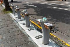 Σταθμός YouBike Ubike Το Ubike είναι ένα δημοφιλές δίκτυο του ποδηλάτου ενοικί στοκ εικόνες