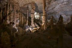 Σταλακτίτες σπηλιών δράκων Cuevas del Drach, Μαγιόρκα, Ισπανία Στοκ Εικόνες