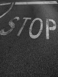 σταματήστε τη λέξη Στοκ Φωτογραφίες