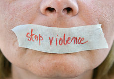σταματήστε τη βία Στοκ Εικόνες