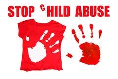 Σταματήστε τη κακοποίηση ανηλίκου Στοκ φωτογραφία με δικαίωμα ελεύθερης χρήσης