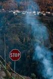 Σταματήστε τη ρύπανση Στοκ φωτογραφία με δικαίωμα ελεύθερης χρήσης