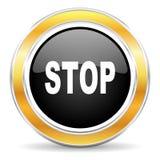 Σταματήστε το εικονίδιο Στοκ Εικόνα