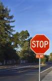 Σταματήστε το σημάδι Στοκ Φωτογραφία