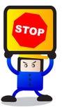 Σταματήστε το σημάδι ελεύθερη απεικόνιση δικαιώματος
