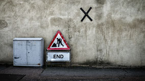 Σταματήστε το σημάδι στο δρόμο Στοκ Εικόνες