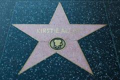 Σταρ του Χόλιγουντ αλεών της Kirstie στοκ φωτογραφίες