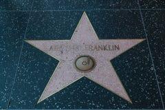 Σταρ του Χόλιγουντ της Aretha Franklin Στοκ φωτογραφία με δικαίωμα ελεύθερης χρήσης