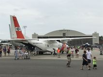 Στατικές επιδείξεις στο 2018 μεγάλη Νέα Αγγλία Airshow σε Chicopee, Μασαχουσέτη Στοκ φωτογραφία με δικαίωμα ελεύθερης χρήσης