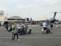 Στατικές επιδείξεις στο 2018 μεγάλη Νέα Αγγλία Airshow σε Chicopee, Μασαχουσέτη Στοκ Φωτογραφίες