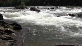 Στατικός πυροβολισμός να ορμήξει το νερό ποταμού απόθεμα βίντεο