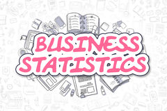 Στατιστικές επιχειρήσεων - ροδανιλίνης κείμενο Doodle χρυσή ιδιοκτησία βασικών πλήκτρων επιχειρησιακής έννοιας που φθάνει στον ου Στοκ φωτογραφία με δικαίωμα ελεύθερης χρήσης