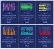 Στατιστικές και Analytics, συλλογή γραφικών παραστάσεων χρώματος απεικόνιση αποθεμάτων