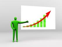στατιστικές παρουσίαση&sig Στοκ εικόνα με δικαίωμα ελεύθερης χρήσης