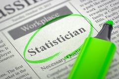 Στατιστικός που μισθώνει τώρα τρισδιάστατος Στοκ φωτογραφία με δικαίωμα ελεύθερης χρήσης
