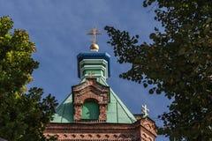 Σταυροί σε μια παλαιά Ορθόδοξη Εκκλησία στη Ρήγα, Λετονία Στοκ εικόνα με δικαίωμα ελεύθερης χρήσης